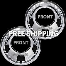 "2 Front 2003-17 DODGE RAM 3500 17"" Chrome Dual Wheel Simulators Dually Rim Cover"