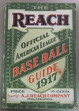 1917 Reach's Official Baseball Guide American League