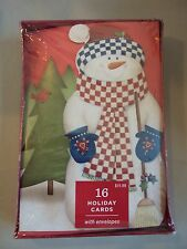 "Hallmark Boxed Lot Of 16 Christmas Cards ""Snowman""  NIB Holiday #cxfr"