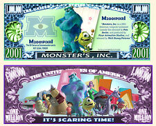 MONSTRES & COMPAGNIE BILLET MILLION DOLLAR US! Série dessin animé Disney Cie inc