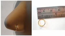 Gold Titanium Ribbon Bow Nose Piercing Jewelry Hoop Ring 20 gauge 20g