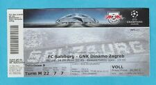 Orig.Ticket  Champions League 2016/17  RED BULL SALZBURG - DINAMO ZAGREB  !!