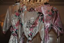 Personalised Satin Wedding Robe Robes Bridesmaid Dressing gown,Bridal Party Robe