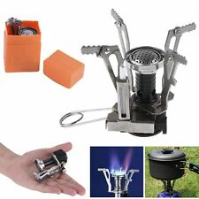 Portable Mini Outdoor Picnic Backpacking Camping Stoves Butane Gas Burner & Box