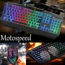 Motospeed S69 Professional Gaming Keyboard and Mouse Set with Rainbow Backlight