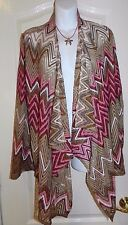 WOMENS CARDIGAN SWEATER = HOT SWAG = SIZE 1X = (cs19)