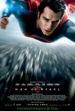 MAN OF STEEL MOVIE POSTER Original DS 27x40 Final Style HENRY CAVILL is SUPERMAN
