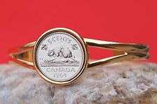 Canada 1964 Beaver On Rock 5 Cents Gem BU World Coin Bracelet - Wildlife Animal