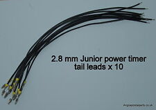 10 FEMALE JPT JUNIOR POWER TIMER TERMINAL TAIL LEADS. as VW wire...freepost