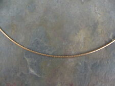 "10 KT Yellow Gold Round Neck Wire Omega Chain Necklace 16"" NEW Lightweight"