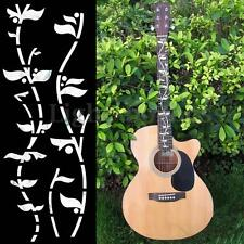 Guitar Bass Inlay Sticker Fretboard Marker DIY Fret Decal Flowers and Plants