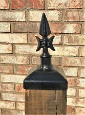 Cast Iron gothic spear post cap for 4x4 wood post, Wrought Iron Mailbox post cap