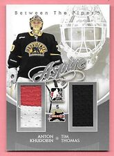 11/12 Between The Pipes Silver #3 Anton Khudobin & Tim Thomas Dual Jersey SP/140