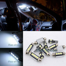 White LED Light Interior Package kit Error Free 11PC for VW Jetta MK5 05-10