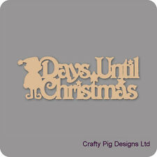 Days Until Christmas With Elf Plaque - 3mm MDF Wooden Craft Blank Chalkboard
