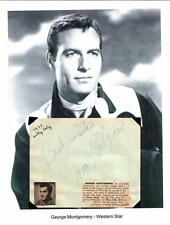 George Montgomery & Hal Peary Autograph The Great Gildersleeve The Lone Ranger