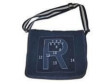 Rugby Ralph Lauren Polo Collegiate Indigo Blue Football Patch Messenger Bag