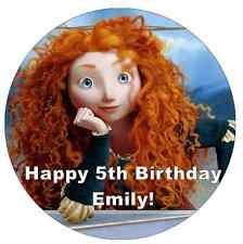 "Disney Princess Merida Brave Personalised Cake Topper 7.5"" Edible Wafer Paper"