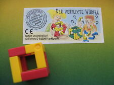 WÜRFEL PUZZLE  - DADI GIALLO - ROSSO    + CARTINA 612 308  1995 kinder germania