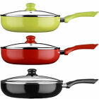 New Red/Black/Green Ecocook Non Stick Frying Pan Frypan White Ceramic Coating