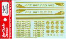 Chesapeake Western Diesel DECALS ShellScale HO111