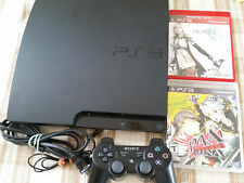 PlayStation 3 Slim 320GB Black Console CECH-3001B Final Fantasy XII Persona PS3