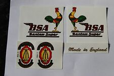 BSA BANTAM D14 SUPER WATERSLIDE TRANSFER SET COMPLETE
