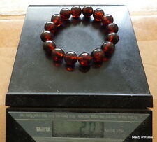 Antique Natural round cherry Baltic Amber Beads strached  bracelet      20 grams