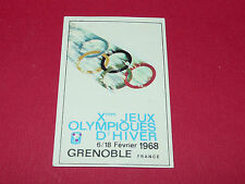 286 GRENOBLE 1968 HIVER PANINI OLYMPIA 1896-1972 JEUX OLYMPIQUES OLYMPIC GAMES
