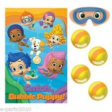 BUBBLE GUPPIES PARTY GAME POSTER ~ Birthday Supplies Decorations Plastic Nick Jr
