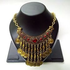 Necklace Bib Fringe Chain Gold Oxidized Jewelry Ethnic Boho Fusion India EA335