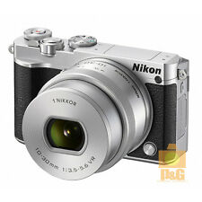 NEW BOXED NIKON 1 J5 CAMERA + VR 10-30mm F/3.5-5.6 PD LENS KIT / SILVER