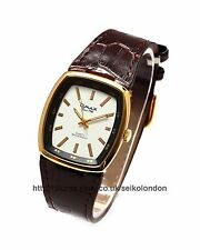Omax Gents White Dial Watch, Gold Finish, Seiko (Japan) Movt. RRP £79.99