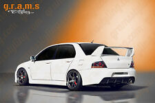 Mitsubishi Lancer Evo 7, 8, 9 Rear Bumper With Diffuser, for body kit, racing