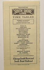 Chicago South Shore & South Bend Railroad 1950 Public System Timetable  4-30-50