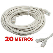 CABLE DE RED 20 METROS RJ45 CAT 5E UTP ETHERNET PC ROUTER INTERNET