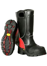 Fire-Dex FDXL-100 Fire-Dex Red Leather Structural Fire Fighting Boot, SIZE 9.5M
