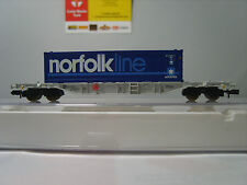 "Fleischmann 825203 N 1:160 Container wagon ""Norfolk Line Container ""  New Boxed"