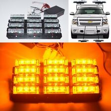 DIY SNOW MOBILE ATV BOAT GOLF CART SECURITY AMBER 36 LED BLINKER STROBE LIGHT