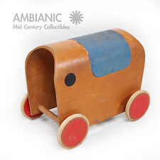 European 1950s Elephant Toy Car , Mid Century Period Hans Brockhage Eames Era