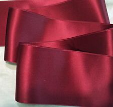 """2"""" WIDE SWISS DOUBLE FACE SATIN RIBBON-  CRANBERRY RED-   BTY"""