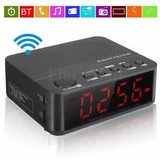 Bluetooth Digital LED Display Alarm Clock Speaker Amplifier FM Radio Mp3 Player