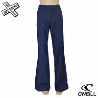"O'NEILL 'STRETCH PANT' WOMENS JEANS TROUSERS DARK BLUE 8 12 28"" 32"" BNWT RRP £50"