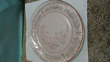 Depression glass pink federal Sharon/cabbage rose 9'' dinner plate 1935-39