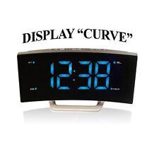Majestic rs134 radio sveglia digitale fm led display curvo jumbo allarme snooze