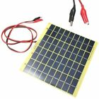 5W 12V Solar Cell Panel For Car Battery Charger Power + 1M Wire & Battery Clips