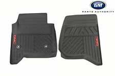14-17 GMC Sierra Premium All Weather Floor Mats 23452764 Black w/ GMC Logo OEM