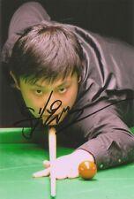 (2) 6 x 4 pouces photo. personnellement signé par joueur de snooker yu de lu.