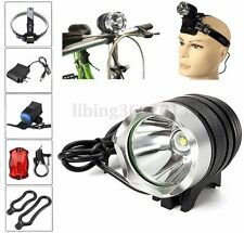 5000LM T6 LED Linterna Foco Luz Bicicleta Faro HeadLight Set
