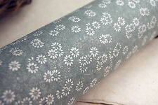 "Handmade Paper 20"" x 30""  Silver Green Daisy set of 3 Floral Print"